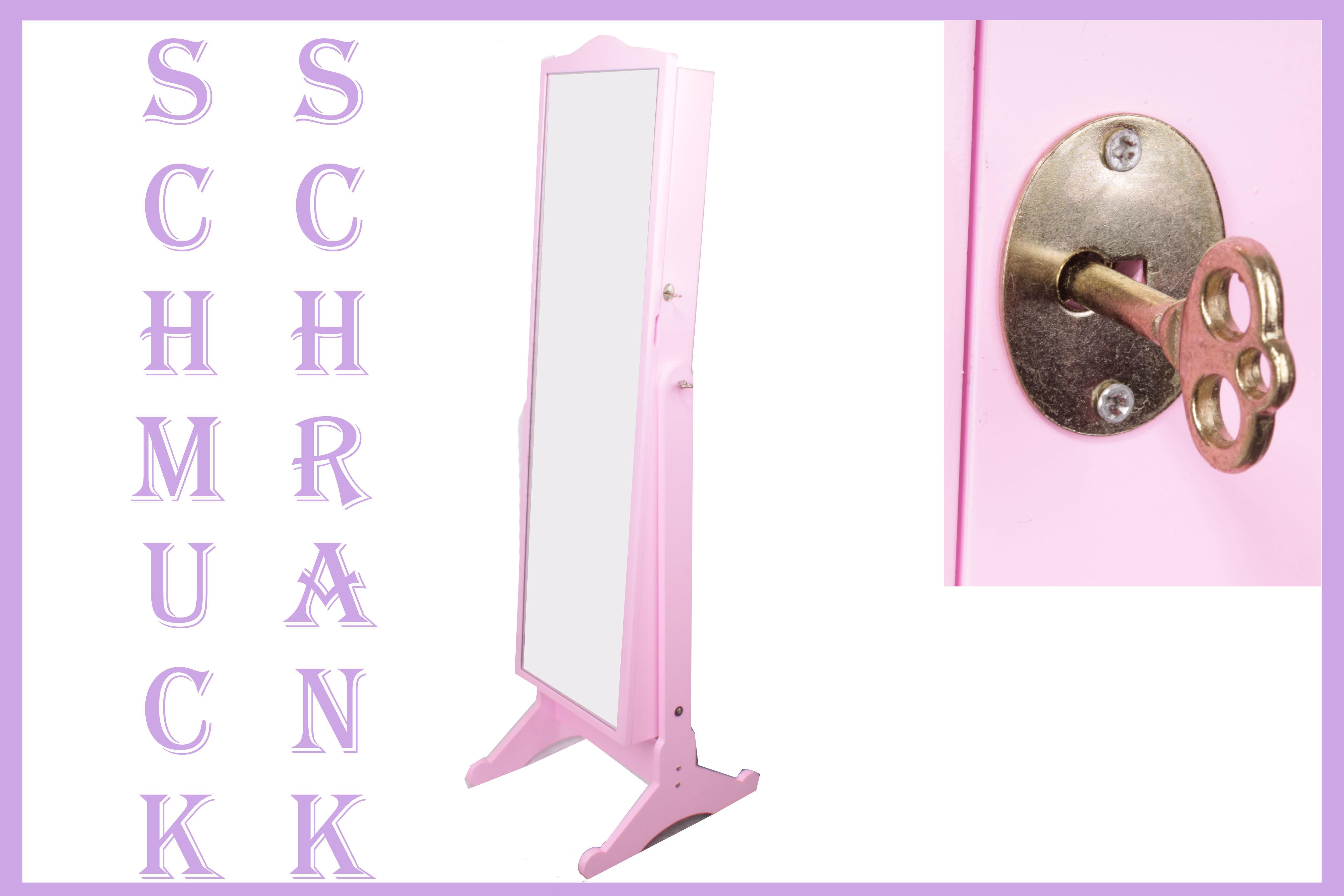 spiegel schmuckschrank schrank schmuck ohrringe ringe. Black Bedroom Furniture Sets. Home Design Ideas