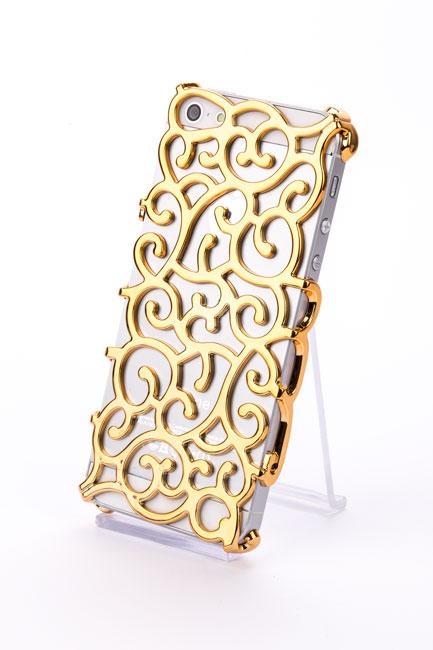 Apple Iphone 5 Vip Orient Cover Chrom Look Hülle Schale Schutz Gold